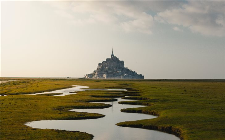 Mont Saint-Michel, France Mac Wallpaper