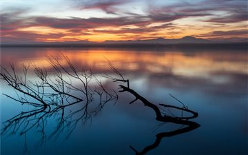 Sunset over Myall Lake Mac wallpaper
