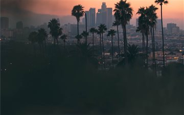 Hazy sunset in East Los A... Mac wallpaper