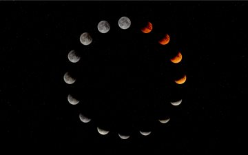 Lunar Eclipse, Folkestone... All Mac wallpaper