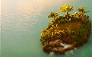 Tilt shift island All Mac wallpaper