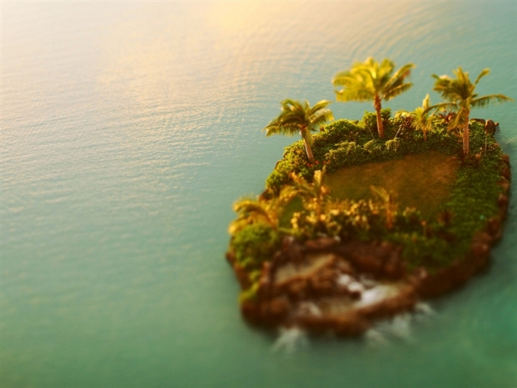 Tilt shift island Mac Wallpaper