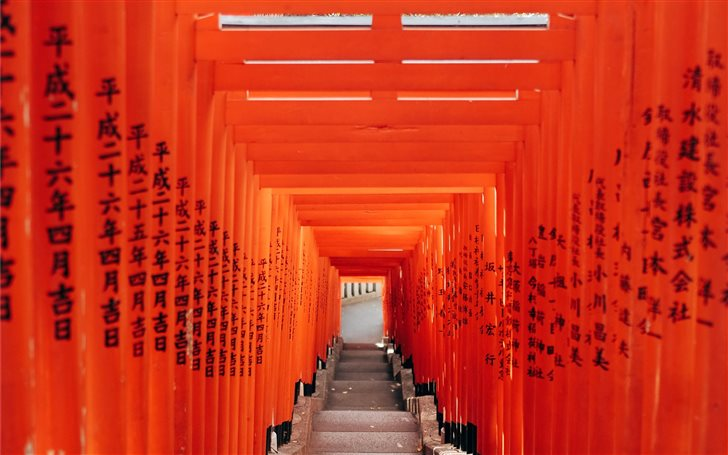 Tokyo city, geometric gat... Mac Wallpaper