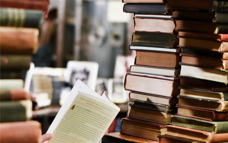 Bookworm. Mac Wallpaper