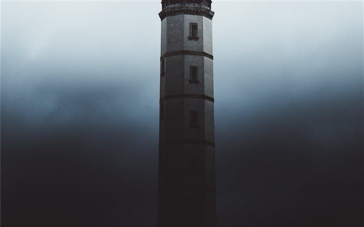 Lighthouse in Shadow.  Mac Wallpaper