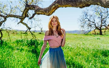 5k katherine mcnamara 201... Mac wallpaper