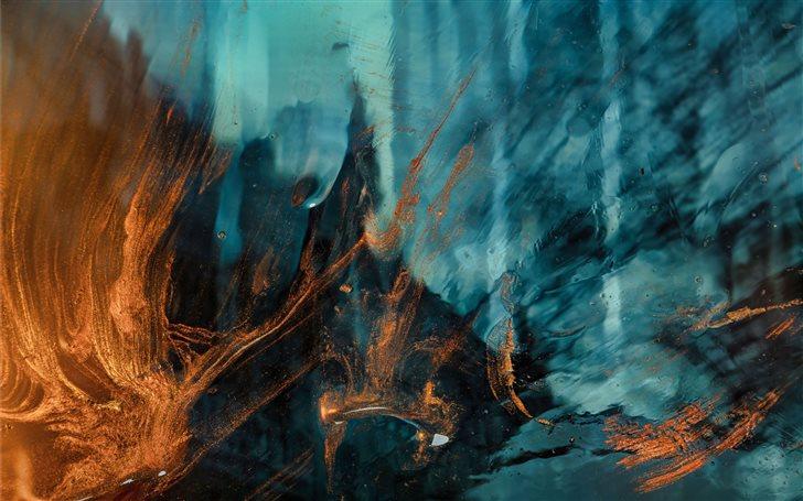 Burning Blue Mac Wallpaper