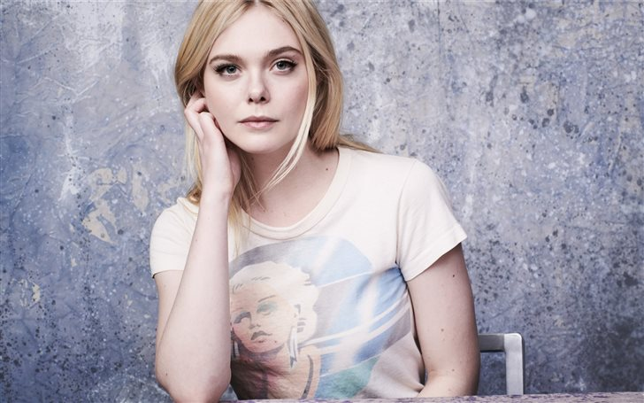 elle fanning 2019 5k Mac Wallpaper