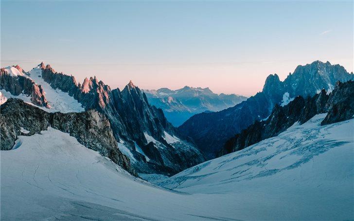Glacier, Mont Blanc at da... Mac Wallpaper
