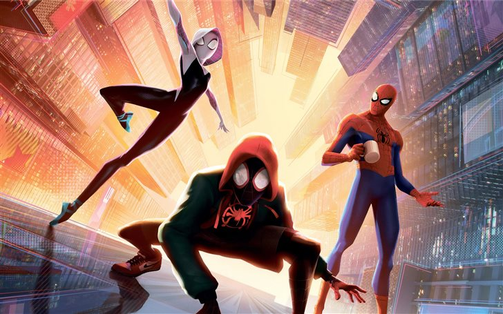 spiderman into the spider... Mac Wallpaper