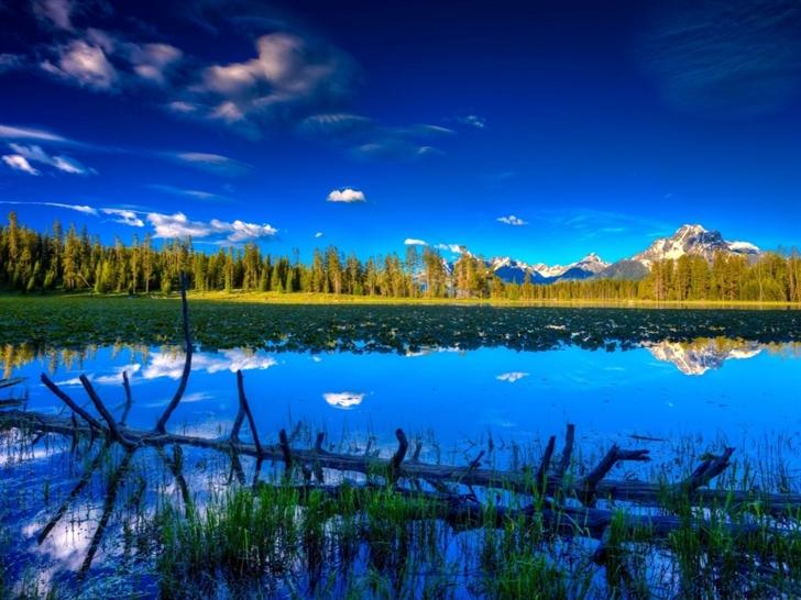 Blue landscape Mac Wallpaper