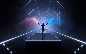 beat saber 8k All Mac wallpaper