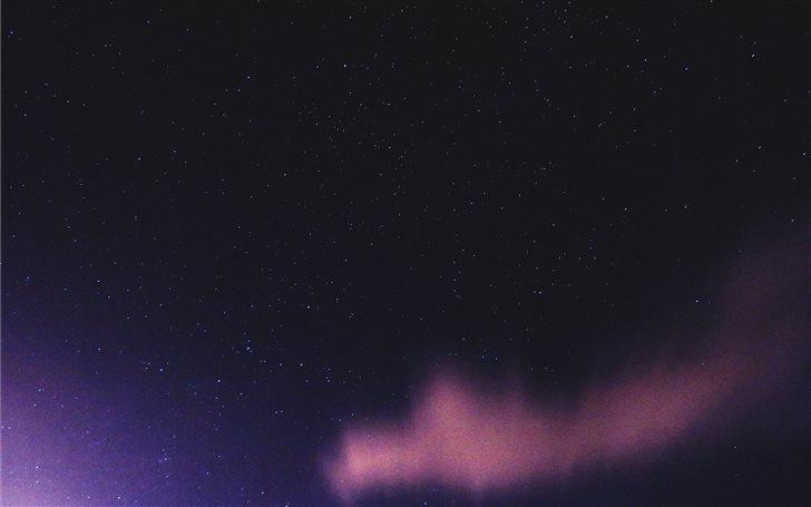 low angle photography of purple borealis Mac Wallpaper