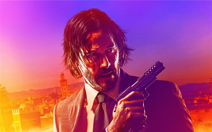 john wick chapter 3 parabellum 2019 8k Mac Wallpaper