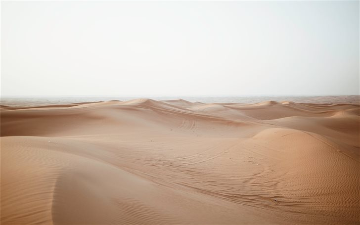 empty sand dunes Mac Wallpaper