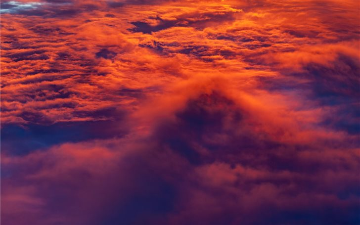 orange clouds Mac Wallpaper