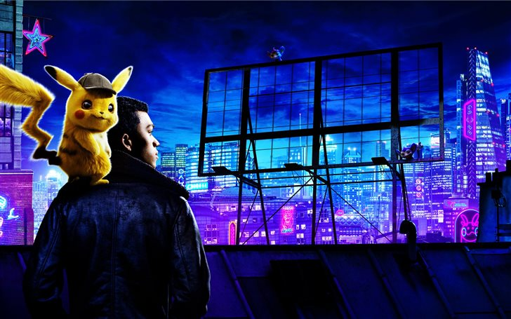 pokemon detective pikachu movie 10k Mac Wallpaper