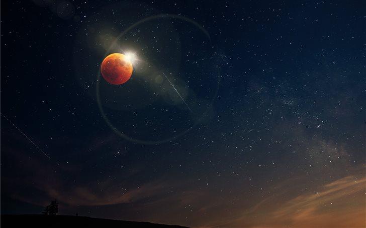 planet illustration Mac Wallpaper