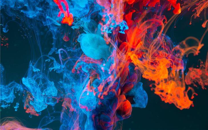 blue and orange smoke Mac Wallpaper