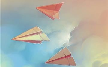 Three paper airplane All Mac wallpaper
