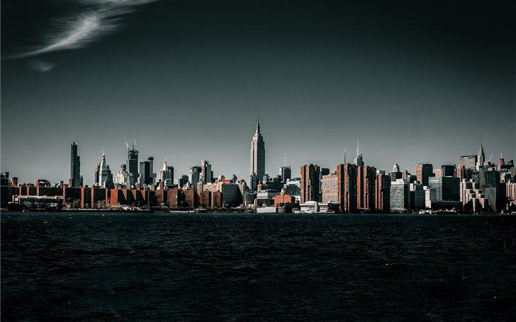 panoramic photo of city during daytime Mac Wallpaper