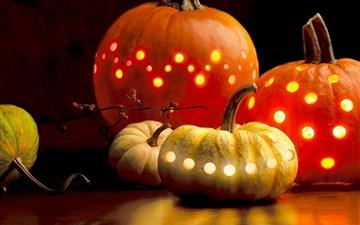 Halloween pumpkins Mac wallpaper