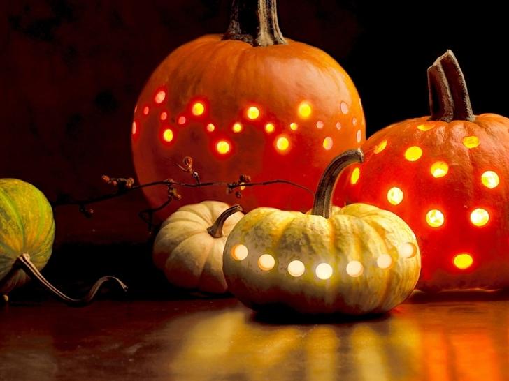 Halloween pumpkins Mac Wallpaper