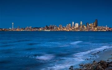 Seattle from the beach Mac wallpaper