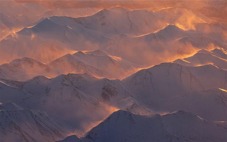 top view of mountain Mac Wallpaper