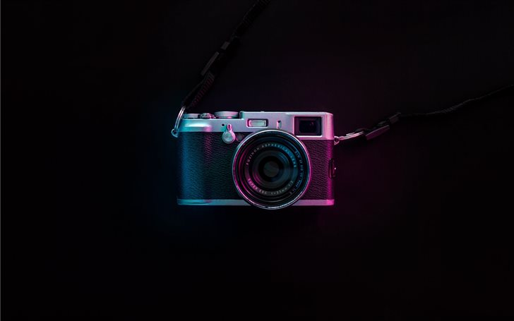 black and silver SLR camera Mac Wallpaper