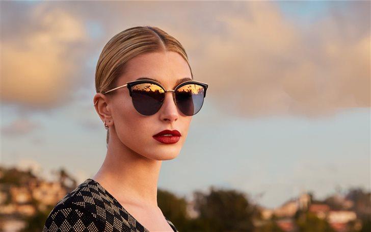 hailey baldwin bolan eyewear 2019 Mac Wallpaper