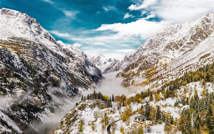 snow covered mountain during daytime Mac Wallpaper