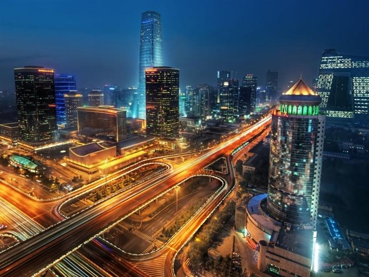 Beijing at night china Mac Wallpaper