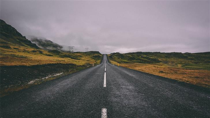 empty road Mac Wallpaper