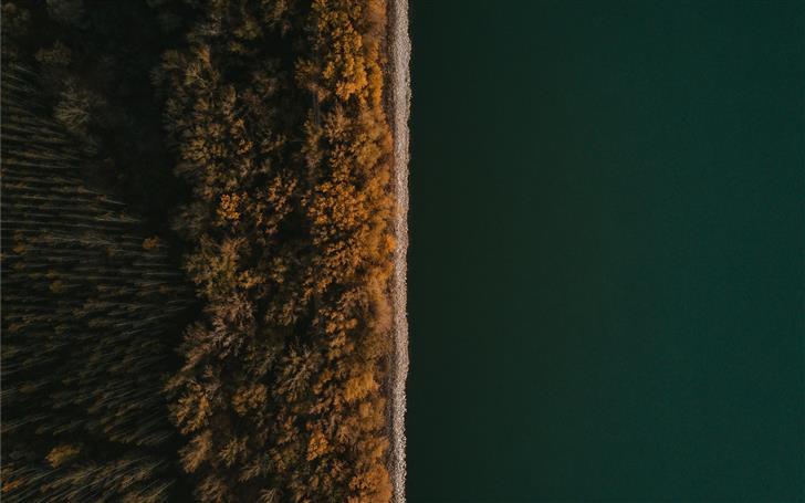 top view of green calm water Mac Wallpaper