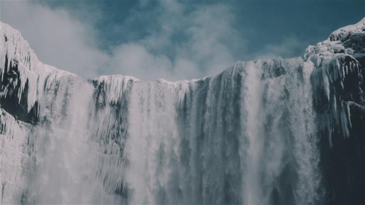 frozen water falls Mac Wallpaper