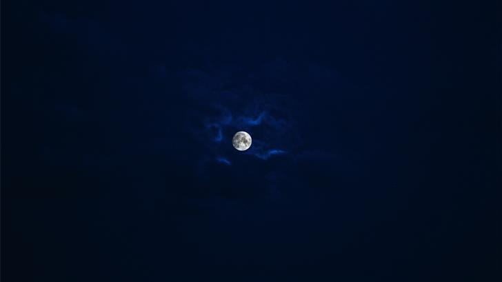 silhouette photo of moon Mac Wallpaper