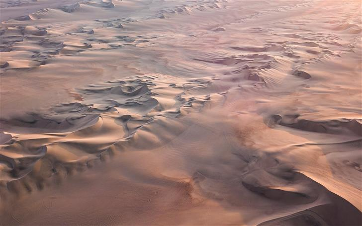 aerial view of desert Mac Wallpaper