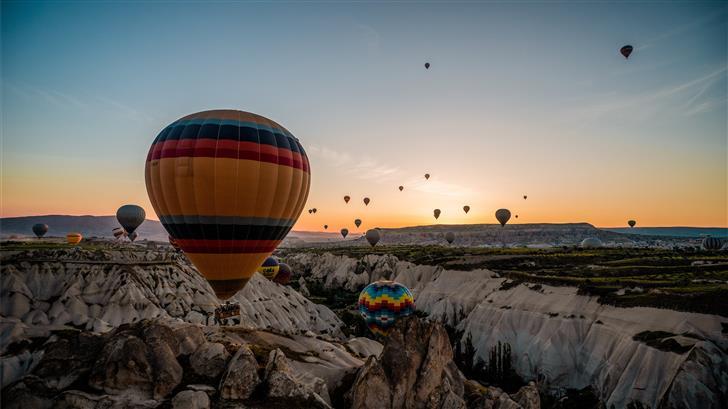aerial photography of hot air ballons Mac Wallpaper