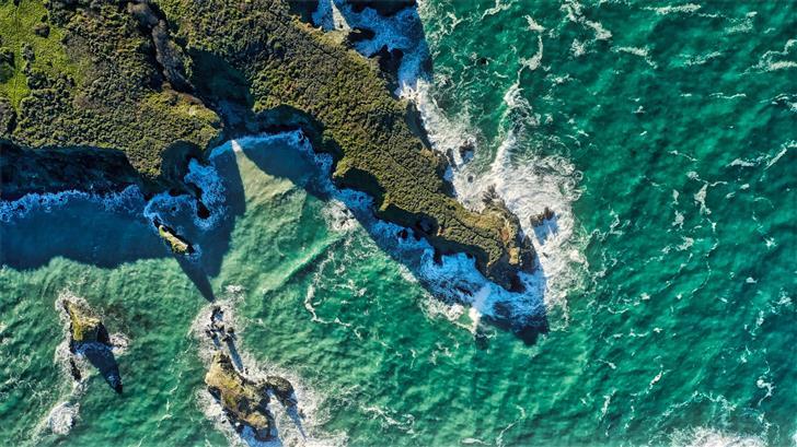 sea at daytime Mac Wallpaper