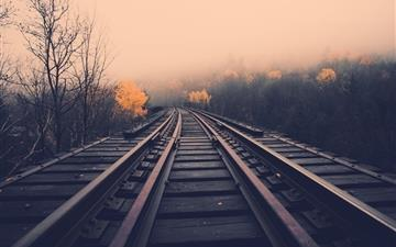 Landscapes railroad tracks Mac wallpaper