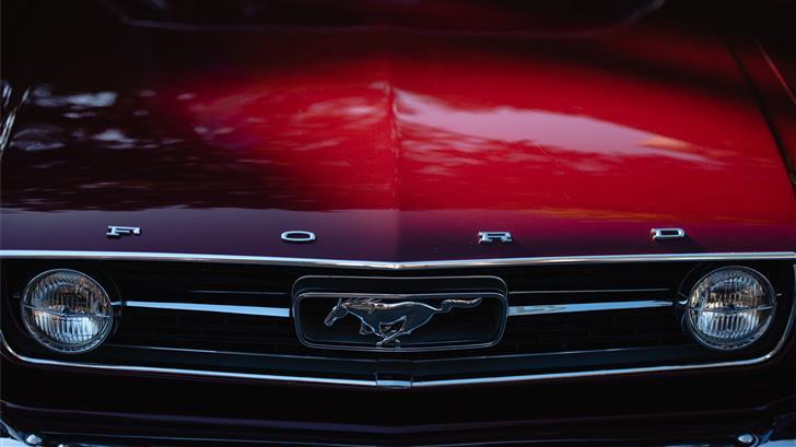 red Ford Mustang Mac Wallpaper