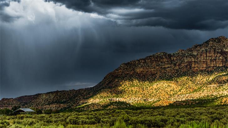 Summer thunderstorm Mac Wallpaper