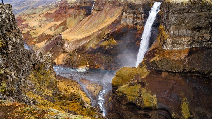 waterfalls during daytime Mac Wallpaper