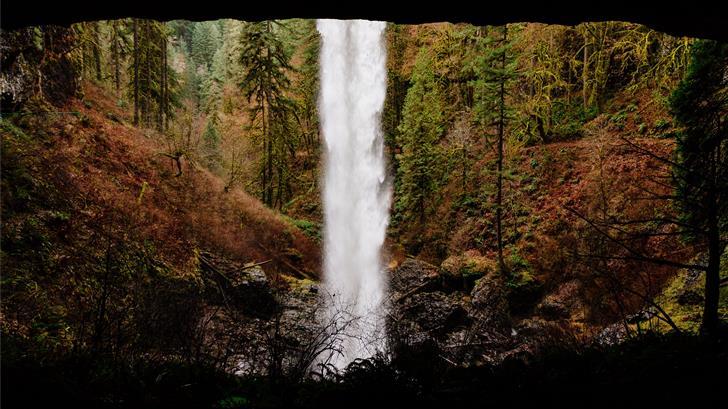time lapse photo of waterfalls Mac Wallpaper