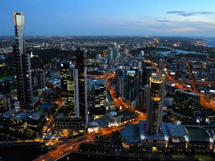 Australia melbourne cityscapes Mac Wallpaper