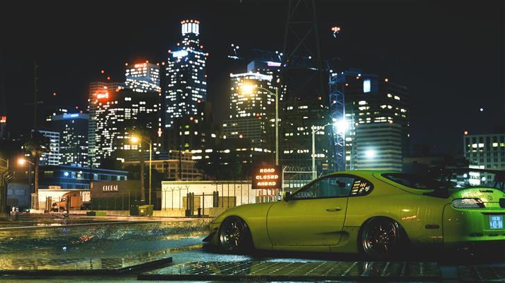 need for speed supra car Mac Wallpaper