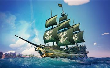 sea of thieves spartan ship 8k All Mac wallpaper