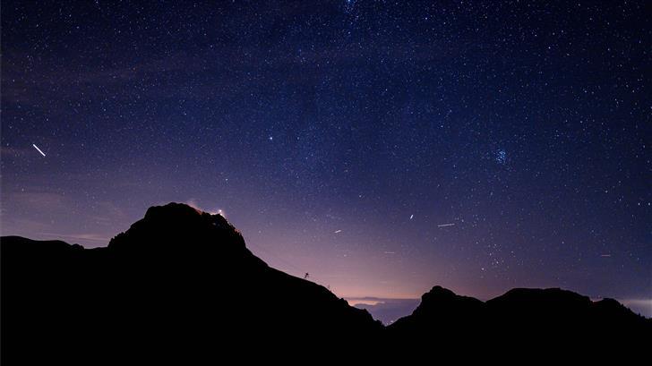 mountains at night Mac Wallpaper