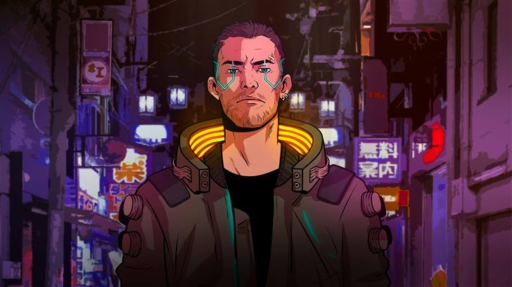 cyberpunk 2077 boy 5k Mac Wallpaper